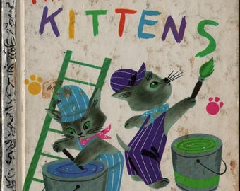 The Color Kittens a Little Golden Book + Margaret Wise Brown + Alice and Martin Provensen + 1977 + Vintage Kids Book