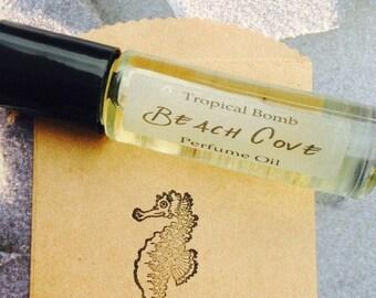Beach Cove Perfume Oil, Beach Vacation, Suntan, Beach Girl, Little Surfer, Bath and Beauty, Beach Wedding,Shower Favors, Roll on Perfume Oil