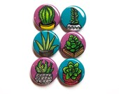 Succulent Plant Pin Back ...