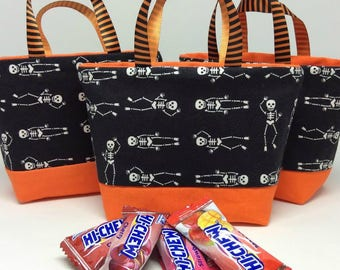 Halloween Treat Bag with Skeletons