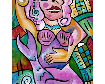 Siren, Venus - One of Four Sirens of NoLa -  13x19 print by Joel Traylor