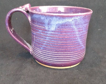 RESERVED for lyndarfoxxy21  mugs in grape, stoneware pottery, dishwasher safe
