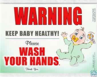 Wash Your Hands Gender Neutral Baby Sign