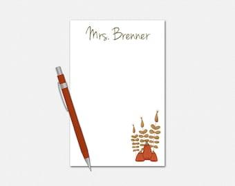 Personalized Fall Notepad - Pumpkin Notepad - Autumn Notepad - Personalized Notepad - Fall Stationery for Teachers - Pumpkin Stationery