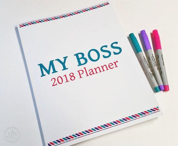 My Boss: 2018 Planner