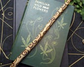 Dorset Rowan Wood Spiral Wiccan Wand for Protection & Work with the Fey - Witchcraft, Pagan, Magic, Ritual