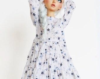 Minifee MSD 1/4 bjd  Floral tiered dress