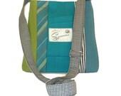 Miles Messenger #4117 - Recycled Suit Coat Messenger - Unisex Bag - Upcycled handbag - Crossbody Messenger Bag - Gift for Him - Gift for Her