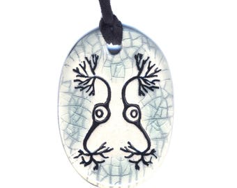 Neuron Ceramic Necklace in Crackle