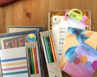 Taste of Earmark Gift Sampler, Stationery gift set, stationery bundle, cubicle buddy, gift for teacher, sibling gift, grandchild gift, kid