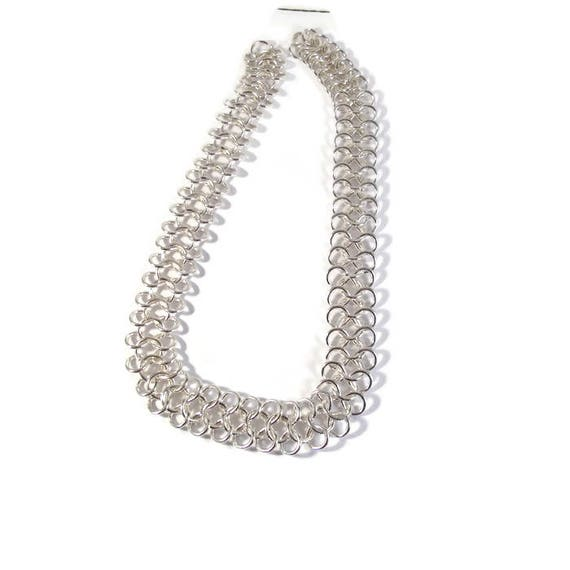 Silver Plated Chain, 16 Inch Piece of Specialty Chain, AMAZING Chain, Jewelry Supplies (F-1a)