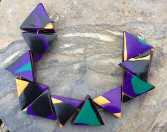 Funky Triangle Beads in Cool Patterns and Colors