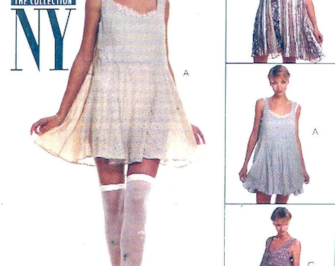 NY babydoll dress top teddy cute summer 90s womens wear sewing pattern McCalls 7583 New York collection Sz  8 to 10 Uncut
