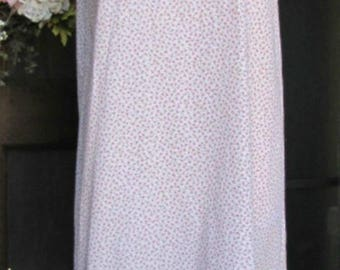 Sassy Rags pink floral cotton full length layering slip
