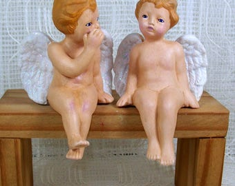 Ceramic Angel Figurines / Ceramic Cherub / Cherub Angels / Angel Statues / Cherub Statues / Handmade Ceramics / Angel Decor / Angel Gift