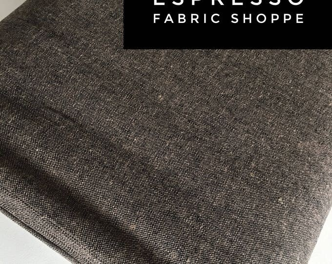 Essex Linen, Linen Blend fabric, Essex Yarn Dyed, Apparel Fabric, Denim Dress fabric, Yarn Dyed fabric, Linen fabric, Essex in Espresso