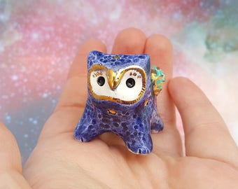 Owl Gryphon Ceramic Sculpture