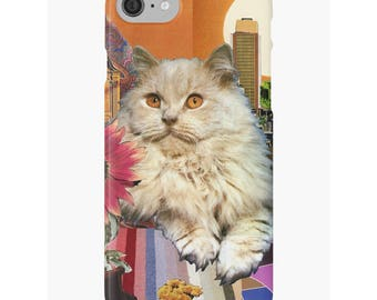 Leo iPhone Case - Zodiac Astrology Art - July August Birthday Gift for the Cat Lover - Snap or Tough Case