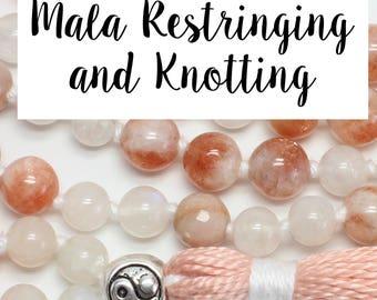 Mala Restringing and Knotting - Cotton Thread