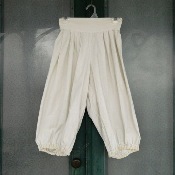 Antique Roomy Bloomers in White Cotton