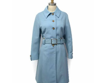 60's mod mini belted trench coat