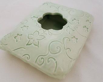 Handmade Ceramic Ikebana Vase, Succulent Planter, Bud Vase, Air Plant Pot, Celadon Vase