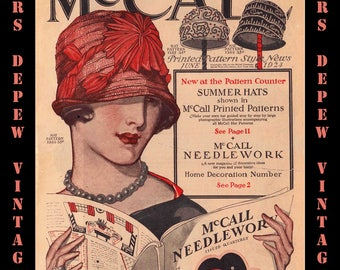 Vintage Sewing Pattern Catalog Booklet McCall Style News June 1924 - INSTANT DOWNLOAD-