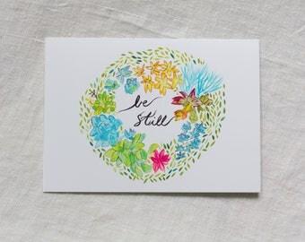 CARD - Be Still