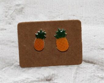 Pineapple Earrings, Teeny Tiny Earrings, Fruit Jewelry, Cute Earrings