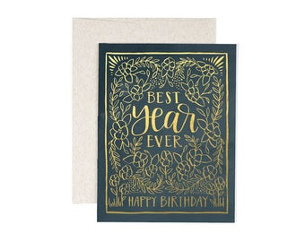 Best Year Ever // Illustrated Card // 1canoe2