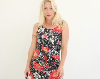 1990s Tropical L.A. Dress >>> Extra Small to Small