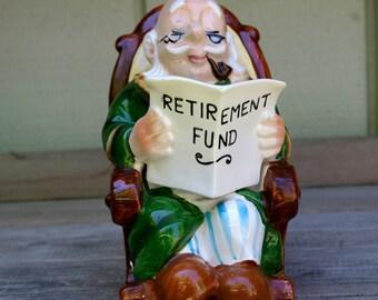 Kitschy Rocking Grandpa Retirement Bank