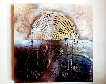 """Original Acrylic Textured Abstract Painting...""""Gateway To..."""" ... Mixed Media Art...Wall Decoration Painting...Hand Painted Acrylic Art"""