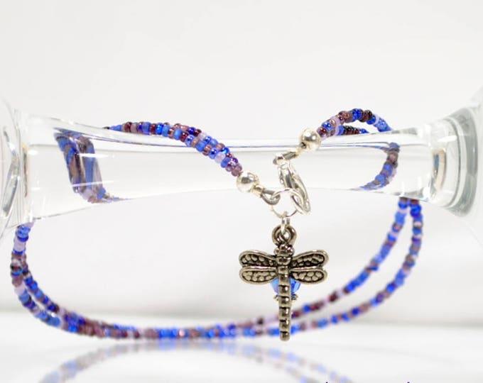 Dragonfly Anklet 10 inch Ankle Bracelet Blue Charm Anklet Handmade Jewelry Charm Ankle Bracelet Blue Anklet