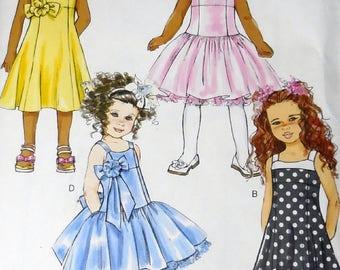 Butterick 5845 - Girls' Princess Dress, Sundress, Tutu-Dress, Flower Girl, Glam, Classy, Dressy, Party Dress - Size 6, 7, 8 - Super Cute