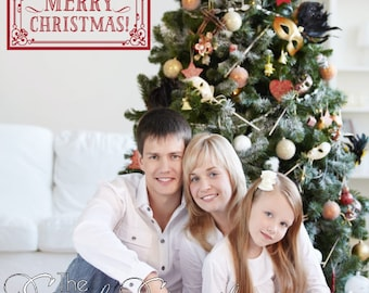 Merry Christmas Whimsical Christmas Wall Decals And - Custom vinyl wall decals christmas
