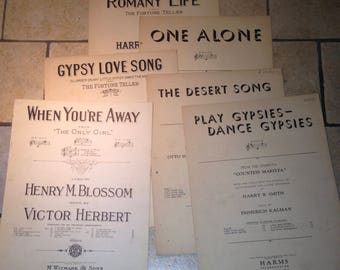 Instant Collection of Operetta Sheet Music