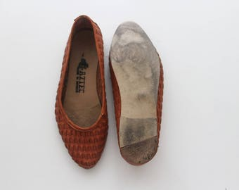 1980s Woven Leather Flats