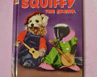 Vintage 1953 Squiffy The Skunk Rand McNally Elf Book Very Nice