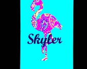 Flamingo Decal - Flamingo Sticker - Flamingo Name Vinyl Decal - Laptop Decal - Water Bottle Decal - Tumbler - You Choose Size and Color