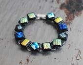 The Perfect Two Dichroic Glass Bracelet