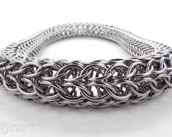 Super Thick Eight Sided Full Persian - Stainless Steel - Long Chainmaille Necklace -