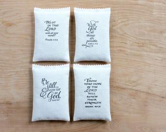 Christian Lavendar Bags Scripture Gifts for Women, Bible Verse Sachets, Scented Sachets
