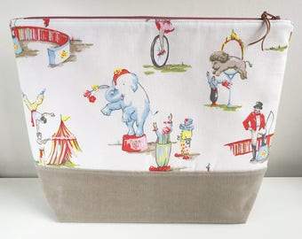 EXTRA LARGE Project Bag | Cath Kidston When the Circus Comes to Town