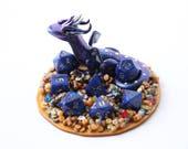 Mini Galaxy Treasure Dragon full set D&D dice