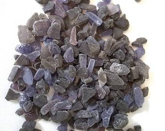 Purple Sea Glass - 4# 6oz bag - Smoke Sea Glass Mixed w Purple  - OVER 4 POUNDS