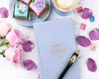 Paris Journal - Paris in Bloom Gratitude Journal, Paper Goods, Paris Stationery, Eiffel Tower, Daily Journal