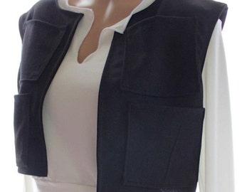 "Sugarpuss Custom ""Han Solo"" Vest w Pockets, Star Wars, Han Solo Vest, Costume, Cosplay"