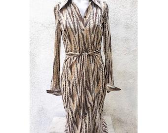 Chic Vintage Diane Von Furstenberg marbelized print dress size s/m