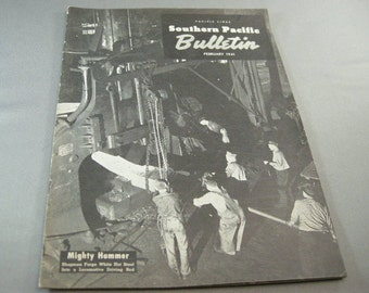 Vintage Southern Pacific Railway Bulletin February 1941, Early Railroad, Railroad Paper, Railroad Bulletins, Southern Pacific Railroad